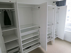 IKEA PAX unit with doors